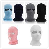 Açık Şapka Kayak Maskesi Örme Yüz Kapak Kış Balaclava Tam Spor CS için Tam Üç 3 Delik Örgü Ha