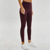 Womens lulu lemon Yoga Hosen Hohe Taille Leggings Massive Farben Atmungsaktiv Material Trainingsanzug Hohe Taille Super elastische nahtlose Yogashose