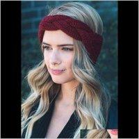 Aksesuarlar Hairband Moda Kış Sıcak Papyon Tığ Örgülü Örgü Örgü Yün Şapka Cap Bandı Kadınlar Için Kafa Wrap Hair Accesory Zed5n Aruuyu