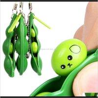 Favor Event Festive Party Supplies Home Garden Drop Delivery 2021 Decompression Edamame Fidget Toy Pop It Squishy Squeeze Peas Beans Keychain