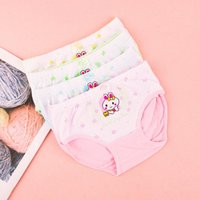 Pure Girls Boxer Pants Cotton Children's Triangle Baby Underwear Shorts Head 2-3-5-7-9 Years Old Panties