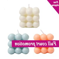 Cube Aromatic Therapy Vacation Candles Home decoration Lighting Supplies B1J2