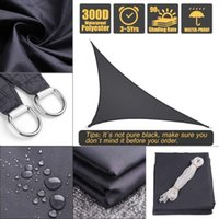 Tents And Shelters Waterproof Polyester Oxford Fabric Shade Sail Right Triangle Tent Sunshade-Black UV Protection Outdoor Camping