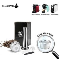 RECAFIMIL قابلة لإعادة الاستخدام قهوة كبسولات إعادة الملء الفولاذ المقاوم للصدأ فلاتر فلاتر للدلاطا س صانع جراب 210607