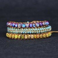 Tennis 2021 Top Qualität Handgemachte Naturstein Wrap Armband Yoga Energy Buddhism Perlen Armbänder Sets Schmucktropfen