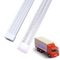 25-Pack, LED Shop Light, Tubes de 8 pieds 100W 10000LM 6000K, Blanc froid, Forme V 144W 6500K 14400LM