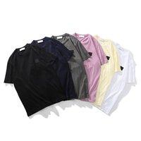 Berühmte Marke Sommer Hohe Qualität Baumwolle Casual T-Shirt Einfache Logo Männer Kurzarm Mode Lose Paar Stil Pullover
