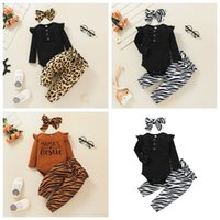 Baby Girls Clothing Set Letter Romper and Pants Outfits Fall 2021 Children Boutique Clothes 0-2T Toddler Cotton Fashion Suit