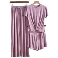 Pliktea 3 Piece Set Серый Домашний костюм для женщин Atof Off Домашняя Одежда Женская пижама набор женская одежда костюм костюм осень женские ножки 210928