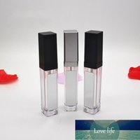 7ml Square Lip Gloss Tubes Empty Bottle with LED Light Mirror Clear Cosmetic Containers Makeup Tools