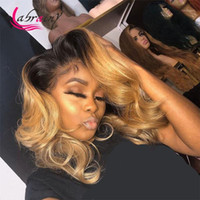 27 HD Transparent Ombre 613 Blonde Lace Frontal Human Hair Wigs Colored Body Wave Wig Pre Plucked Bleached Knots 13x6x11