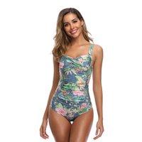 Julysand Kobiety Stroje Kąpielowe Sexy One Piece Swimsuit Lady High-End Bathingsuit Wysokiej talii Kwiatowy Swimwear Dla Kobiet 1163 Z2