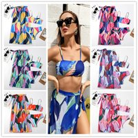 Womens Swimwear Bikini Set 2021 Sexy Beach Dress Cover Up Women Bathing Suit Split Elastic Soft Summer Clothes For Holiday