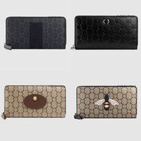 Haute qualité Mens Iconic Fashion Long Portefeuille Porte-monnaie Porte-monnaie Porte-boîtier Brown Waterproof Toile 451275