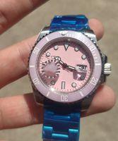 2021 패션 남자와 여성 시계, 세라믹 링 입, 핑크 럭셔리 표면, 40mm 자동 2813 무브먼트, 수영, 사파이어