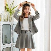 Schuluniform Zweiteiler Rock Anzüge Designer Mode Weibliche Anzug Frauen Blazer Complete Outfit 2 Set Damen Workwear Arbeitskleider