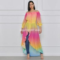 Lady Ethnic Clothing Dresses For Women Off The Shoulder Pleated Dress 2021 Fashion Bazin Sexy Dashiki African Long Maxi