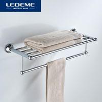 Toalhas Racks Ledeme Banheiro Suporte de Banheiro Montado Organizador Gancho Locker Sala De Armazenamento Prateleira Banho Acessórios L810
