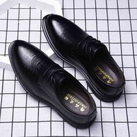 Business dress casual two-layer cowhide fashion groom Korean wedding shoes men's spring and autumn soft bottom best man