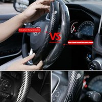 Steering Wheel Covers Carbon Fiber Look ABS Car Cover Non-slip Sports Absorbing Sweat Wear-resistant Fash E0G2
