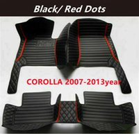FOR Toyota COROLLA 2007-2013year Custom Car Splicing Floor Mats Waterproof Leather Wear-resistant Non-toxic Tasteless and Environmentally Friendly Foot Mats