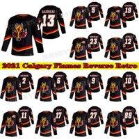 Flames Calgary Flames Jersey 2021 عكس الرجعية 13 جوني جودرو 19 ماثيو توكاشوك 23 شون موناهان 5 مارك جيوردانو هوسي الفانيلة