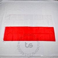 Polen / Polnische Banner Nationalflagge Freies Schiff 3x5 ft / 90 * 150cm Hängende Nationalflagge Polen / Polnisch Home Decoration Flagge Banner