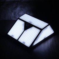 야외 벽 램프 318/436 LED 태양 광 가벼운 적외선 인체 센서 및 대조 방수 야드 안뜰 가로등