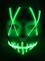 Hot LED Light Mask Led strip Flexible neon sign Light Glow EL Wire Rope Neon Light Halloween face Controller christmas Lights kids toys