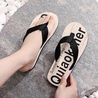 Sandalet serin erkek yaz giyim marka kişiselleştirilmiş plaj klip kayma flip flop versiyonu