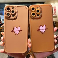 Caramel love heart phone cases for iphone13 pro max 12 min 11 X XR XS 7 8 plus case cover