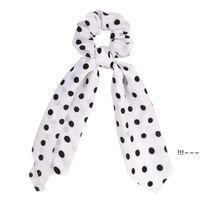 Lungo nastro nastro Holder Stampa floreale Stampa elastiche per lady girl capelli cravatta sciarpa fasce accessori EWD5880