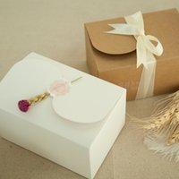 Caja de pastel de papel de papel kraft natural Cajógico de regalo / Candy / tuercas Caja / Caja de embalaje de bricolaje / 20pcs / Lothigh Calidad 150 * 100 * 85mm