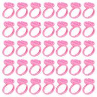 False Eyelashes 100pcs Disposable Eyelash Extension Glue Holder Cup Pallets