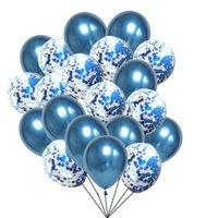 Party Decoration 20pcs Blue Balloons Wedding Metallic Baloons Birthday Decor Baptism Boy Ballon Bleu Balony Child Globos