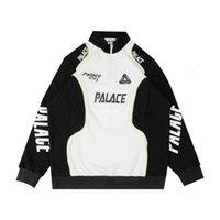 19SS P RACER PALACE TOP RACING COURE COLOR Соответствующий Пуловер Половина на молнии Мужская и женская рукава Свсецлы