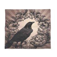 Pillow Case Vintage Crow Black Flower Linen Square Cushion Cover Standard Pillowcase For Men Women Kids Home Decorative Sofa Armchair Bedroo