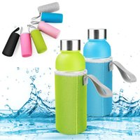 Aufbewahrungstaschen 550ml Sport Wasserflasche Abdeckung Vakuumbecher Set Neoprenisolator Hülsenbeutel Fall Taschen Tragbare Campingzubehör