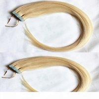 Bandverlängerungen menschliches haar gerade 50g pack 20 stücke paket blonde 100% menschliche haut schuss haarverlängerung 16-26 zoll