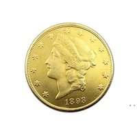 Crafts United States Of America 1893 Twenty Dollars Commemorative Gold Coins Copper Coin Collection Supplies HHF7593