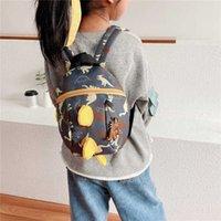 Korean Children Bag 2021 Spring and Summer New Cute Little Dinosaur Backpack Schoolbag for Boys Girls