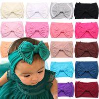 Красочные детские девочки лук узлы повязки волос аксессуары для волос новорожденного малыша бантики головы обертки дети широкополосные мягкие волосы детские головные уборы