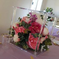 Party Decoration 10 PCS   Lot Table Flower Rack Acrylic Crystal Wedding Road Lead Centerpiece Cake Stand Event Christmas