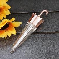 10-100 adet 5.5ml Gül Altın Şemsiye Şekilli Dudak Parlatıcı Tüp Boş Lipgloss Sır Konteynerler Ruj Şişeleri Depolama Kavanozları