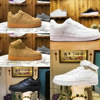 2021 Designers Outdoor Men Low Skateboard Shoes Cheap One Unisex 1 Knit Euro Airs High Women All White Black Sports Shoes