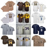 Rétro 1978 1984 Vintage Baseball 6 Steve Garvey Jersey 3 Ian Kinsler 34 Rollie Fingers 59 Chris Paddack 1948 Tourner l'horloge