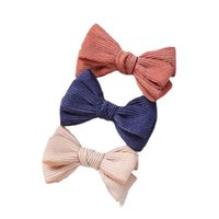 Girls Hair Accessories Hairclips Baby Bb Clip Kids Barrettes Clips Bows Children Double-Layer Bowknot Velvet Bow Princess Accessory B8506