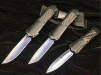 A163 3300 Grey Black Handle Bolso Faca Bule Feather 440 Lâmina Dual Ação Fixa Lâmina Friendas Táticas Ferramenta de Sobrevivência de Pesca Tática