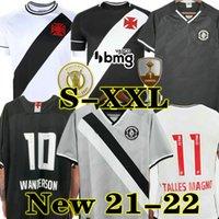 Wanderson 21 22 Vasco Da Gama Futbol Formaları Maxi Rios Paulinho Fabiano Muriq 2021 2022 Siyah Beyaz Futbol Gömlek