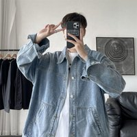 Men's Jackets Spring Autumn Denim Men Korean Casual Fashion Loose Bomber Streetwear Tops